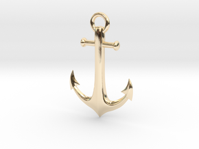 Anchor Necklace in 14K Yellow Gold
