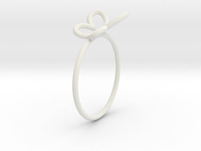 Butterfly Ring in White Natural Versatile Plastic
