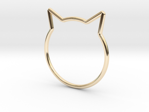 "Cat Ear Ring ""Büsi"" in 14K Yellow Gold"