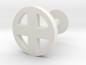 X Logo Cuff Link (one) in White Natural Versatile Plastic