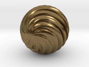 Wave Ball in Natural Bronze