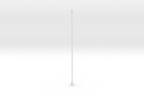 Tail Antenna in White Natural Versatile Plastic