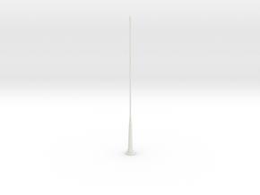 Tail Antenna 2 in White Natural Versatile Plastic