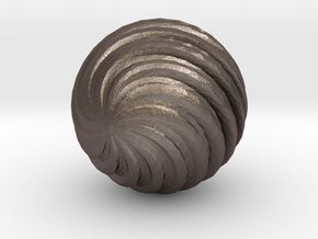 Wave Ball in Polished Bronzed Silver Steel