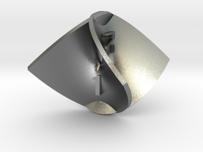 Enneper Surface d4 in Natural Silver