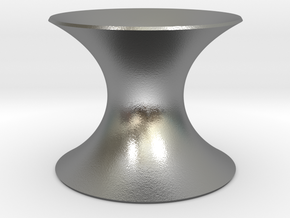 Catenoid Minimal Surface in Natural Silver