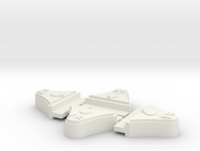 "FR 2 Ton 7/8"" scale axleboxes in White Strong & Flexible"