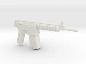 M4A1 RIS Actual Size in White Natural Versatile Plastic