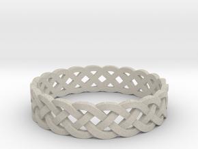 Rohkea Bold Celtic Knot Size 7 in Natural Sandstone