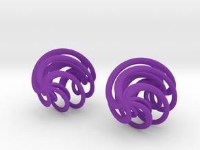 Swirly Earrings in Purple Strong & Flexible Polished