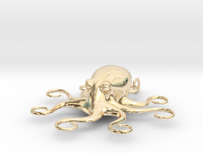 Octopus Pendant in 14K Yellow Gold