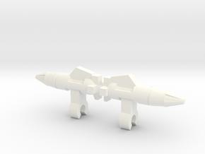 Searcher Missile (3mm clip) x2 in White Processed Versatile Plastic