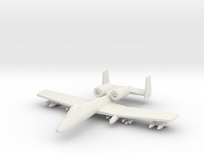 1/285 Scale (6mm) A-10 Warthog  in White Natural Versatile Plastic