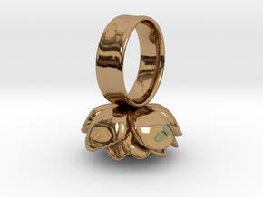 Rose Napkin Ring in Polished Brass
