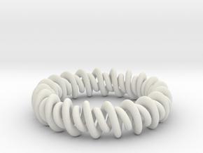GW3Dfeatures Bracelet A in White Natural Versatile Plastic