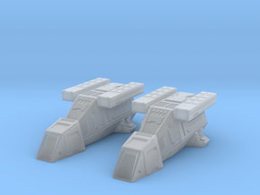 2x DX9 ST Transports 45mm long in Smooth Fine Detail Plastic