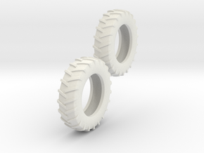 1:64 18.4-38 Tire Pair in White Strong & Flexible