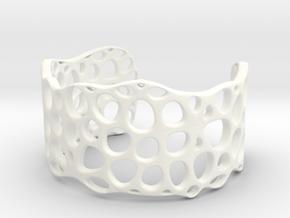 Cell Cuff (48mm Inner Radius) in White Processed Versatile Plastic