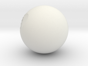 Hollow Sphere in White Natural Versatile Plastic