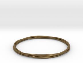 Three loops bangle in Natural Bronze