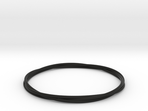 Three loops bangle in Black Natural Versatile Plastic