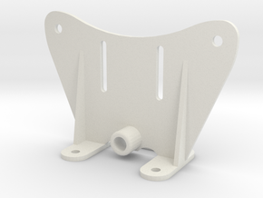 Reinforced TVAN Flood Light Bracket in White Natural Versatile Plastic