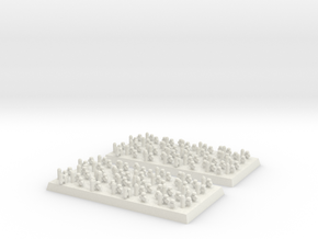2mm DBA Psioli 40x20mm base in White Strong & Flexible