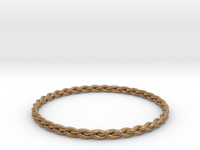 Braid bangle in Polished Brass
