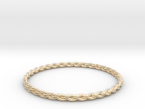 Braid bangle in 14K Yellow Gold