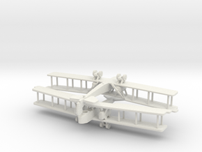Aircraft- Gotha G.V Bomber- Pair (1/288th) in White Natural Versatile Plastic