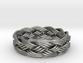 Turks Head Ring Knot  in Natural Silver