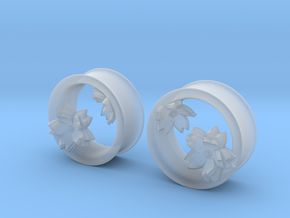 Cherry Blossom 1 Inch Tunnels in Smooth Fine Detail Plastic