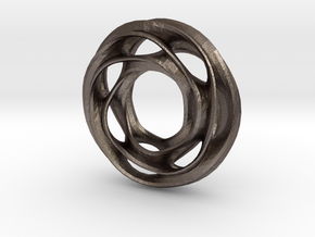 Scherk D in Polished Bronzed Silver Steel