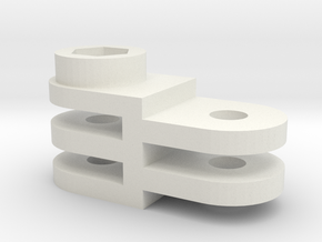 GoPro mounting part 3.5 cm in White Natural Versatile Plastic