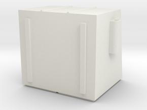 HO 4 Yard dumpster in White Natural Versatile Plastic