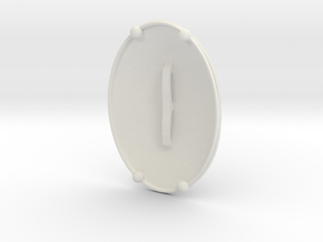 0.7mm Micro Deckel in White Natural Versatile Plastic