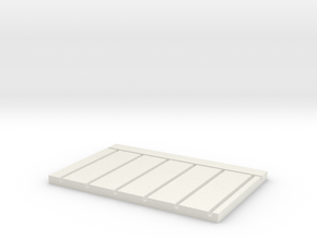 HO Scale Stud Wall Jig - 24 In Centers in White Natural Versatile Plastic