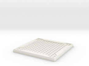 Sci-fi Mesh Floor Tile in White Natural Versatile Plastic