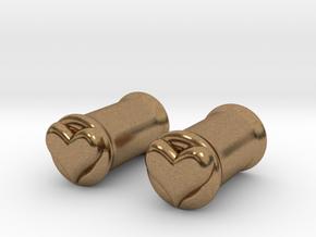 Heart 6mm (2 gauge) tunnels in Natural Brass