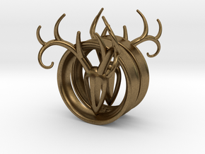 2 Inch Antler Tunnels in Natural Bronze