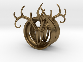 1 & 7/8 inch Antler Tunnels in Natural Bronze