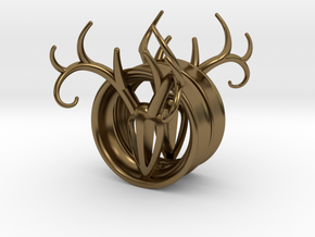 1 & 13/16 inch Antler Tunnels in Polished Bronze
