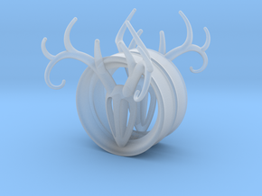 1 & 13/16 inch Antler Tunnels in Smooth Fine Detail Plastic