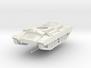Vehicle- Valentine Tank MkII (1/87th) in White Natural Versatile Plastic