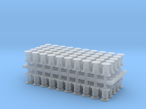 2mm scale Self Contained Buffers in Smooth Fine Detail Plastic