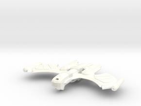 Romulan Decius Class Invader in White Processed Versatile Plastic