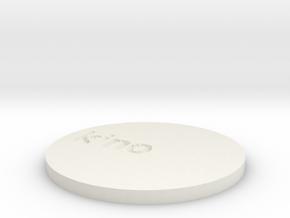 by kelecrea, engraved: kino in White Natural Versatile Plastic