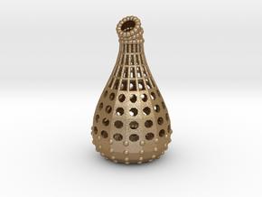 Bud Vase - Klein Bottle 0 in Matte Gold Steel