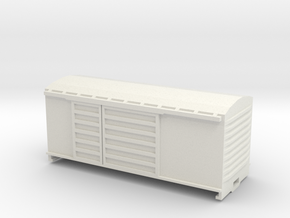 KP Wagon, New Zealand, (HO Scale, 1:87) in White Natural Versatile Plastic