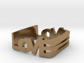 Love in Natural Brass